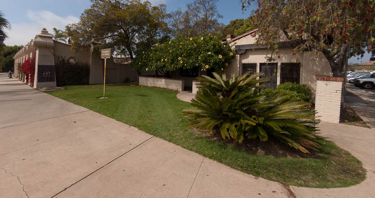 The Photo Arts Building (PAB) is located in Balboa Park next to Spanish Village.